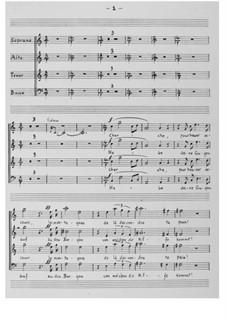 Der 121. Psalm (Chorpartitur): Chorpartitur by Ernst Levy