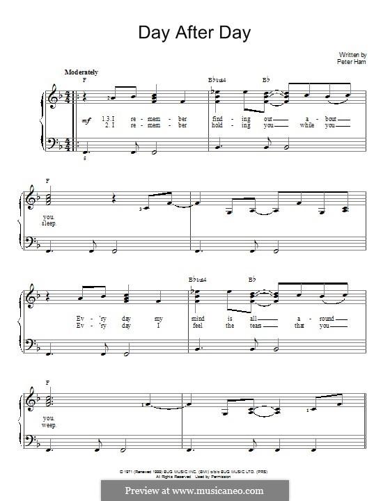 Day After Day (Badfinger): Für Klavier by Peter Ham