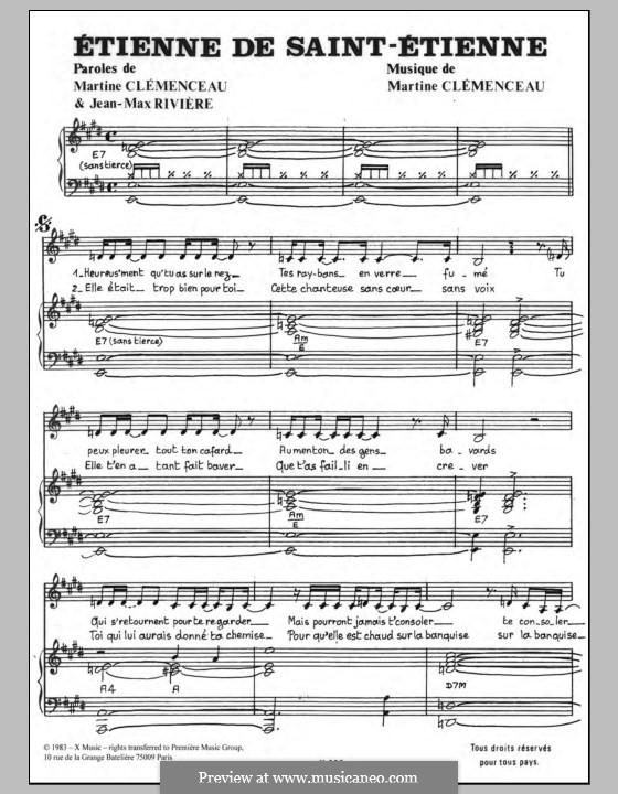Etienne de Saint-Etienne: Für Stimme und Klavier by Martine Clemenceau