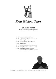 Frets Without Tears: Chapter Three - More Melodies for Beginners by Johann Sebastian Bach, Henry Purcell, folklore, Valentin Haussmann, Vincent Coley