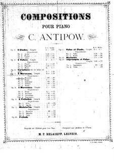 Fünf Stücke für Klavier, Op.5 No.2: Vollsammlung by Konstantin Antipow