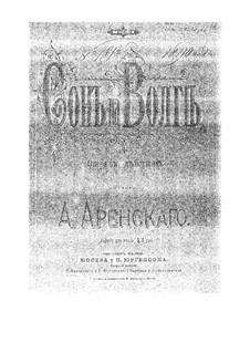 Traum auf der Wolga, Op.16: Introduktion, für Klavier by Anton Arenski