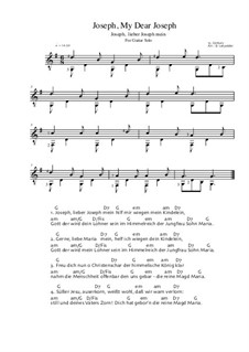 Joseph, my dear Joseph: For guitar solo (easy version) by Unknown (works before 1850)