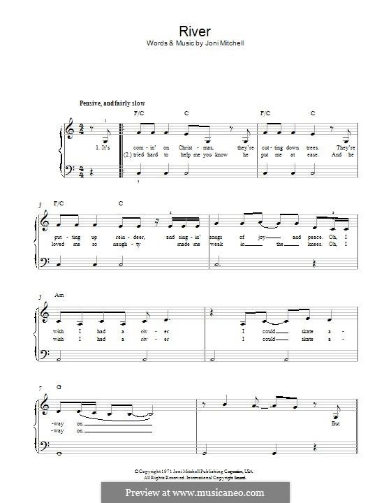 River: Für Klavier by Joni Mitchell