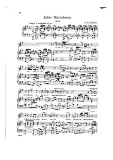 Judas Makkabäus, HWV 63: Pious Orgies, Pious Airs, for voice and piano by Georg Friedrich Händel
