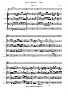 Konzert für Flöten und Orchester Nr.161, QV 5:174: Score and all parts by Johann Joachim Quantz