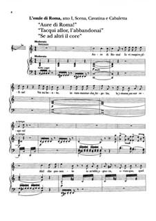 Die Regimentstochter: Kavatina Tonio 'Ah! mes amis', für Stimme und Klavier by Gaetano Donizetti