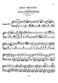 Drei Sonaten für Klvier, Op.2: Sonate Nr.1 by Ludwig van Beethoven