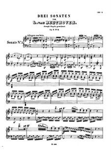 Drei Sonaten für Klvier, Op.2: Sonate Nr.3 by Ludwig van Beethoven