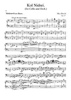 Kol Nidre, Op.47: Cello- und Kontrabass-Stimme by Max Bruch