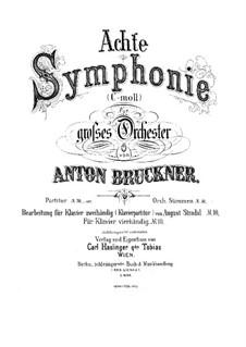 Sinfonie Nr.8 in c-Moll, WAB 108: Bearbeitung für Klavier by Anton Bruckner