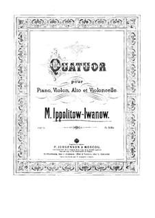 Quartett für Klavier und Streicher, Op.9: Vollpartitur by Michail Ippolitow-Iwanow