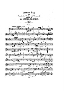 Klaviertrio Nr.4 in c- Moll, Op.85: Violinstimme by Salomon Jadassohn