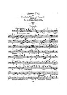 Klaviertrio Nr.4 in c- Moll, Op.85: Cellostimme by Salomon Jadassohn