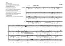 Psalm 146 for Male choir: Ct, T, Ba, B, MVWV 811: Psalm 146 for Male choir: Ct, T, Ba, B by Maurice Verheul