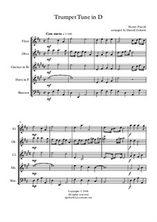 Trumpet tune and Air: For wind quintet by Henry Purcell