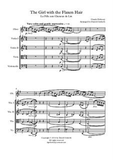 Nr.8 Das Mädchen mit dem flachsfarbenen Haar: For oboe and string quartet by Claude Debussy