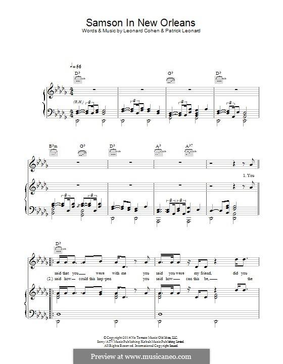 Samson in New Orleans: Für Stimme und Klavier (oder Gitarre) by Leonard Cohen, Patrick Leonard