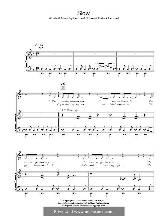 Slow: Für Stimme und Klavier (oder Gitarre) by Leonard Cohen, Patrick Leonard