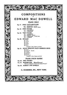 Zwei Fantasiestücke , Op.17: Stück Nr.1 by Edward MacDowell