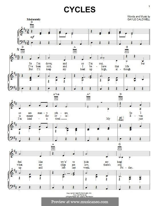Cycles (Frank Sinatra): Für Stimme und Klavier (oder Gitarre) by Gayle Caldwell