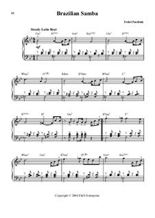 Brazilian Samba: Für Klavier by Fishel Pustilnik