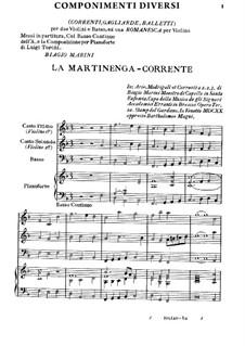 Componimenti Diversi: Teil I by Biagio Marini