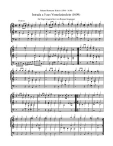 Intrada a 5 aus 'Venuskränzlein' (Orgel-Transkription): Intrada a 5 aus 'Venuskränzlein' (Orgel-Transkription) by Johann Hermann Schein