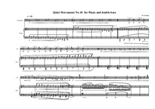Quiet Movements: No.10 for piano and double bass, MVWV 615 by Maurice Verheul