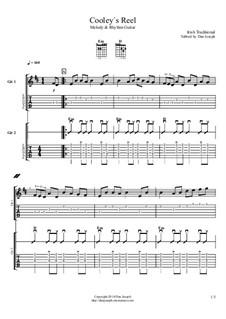 Cooley's Reel: Für Gitarren by folklore