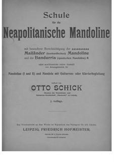 Schule für die Neapolitanische Mandoline: Schule für die Neapolitanische Mandoline by Otto Schick
