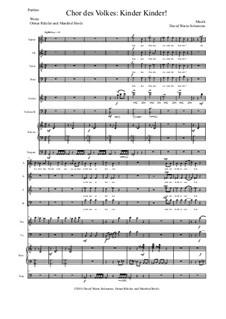 Aton: Teil 2 - Kinder Kinder! - chor, streicher, klavier, timpani by David W Solomons