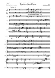 Aton: Teil 7 - Duett von Eje und Pharao - tenor und bass, holzbläser, harfe, violoncello by David W Solomons