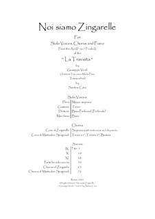 Noi siamo zingarelle: For solo voices, choir and piano, CSGV2 by Giuseppe Verdi