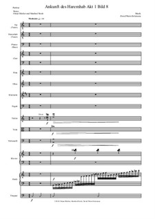 Aton: Teil 11 - Ankunft des Haremhab - 2 Tenorstimmen, 1 Bassstimme, chor, Holzbläser, streicher, klavier, harfe, timpani by David W Solomons
