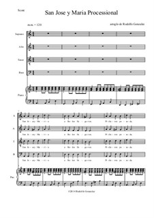 San Jose Y Maria Processional: For SATB choir by folklore
