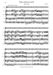 Concerto for Flute and Orchestra No.193, QV 5:236: Score and all parts by Johann Joachim Quantz