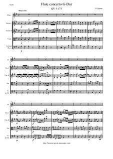 Concerto for Flute and Orchestra No.84, QV 5:173: Score and all parts by Johann Joachim Quantz