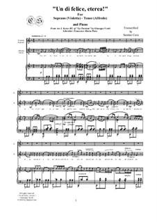 Un dì felice, eterea: For tenor, soprano and piano, CSGV4 by Giuseppe Verdi