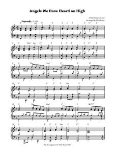 Angels We Have Heard on High: Für Klavier by Unknown (works before 1850)