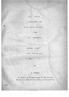 Sechs Duos für zwei Flöten, Op.53: Flötenstimme I by François Devienne