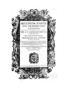 Il Transilvano: Teil II by Girolamo Diruta