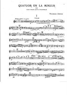 Klavierquartett in a-Moll: Streicherstimmen by Théodore Dubois