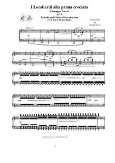 Die Lombarden auf dem ersten Kreuzzug: Prelude-Introdution - Choir STB and piano, CSGV5 by Giuseppe Verdi