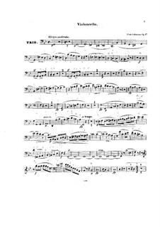 Klaviertrio in g-Moll, Op.17: Cellostimme by Clara Schumann