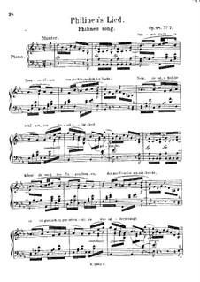 Lieder aus 'Wilhelm Meister', Op.98a: Nr.7 Philinen's Lied by Robert Schumann