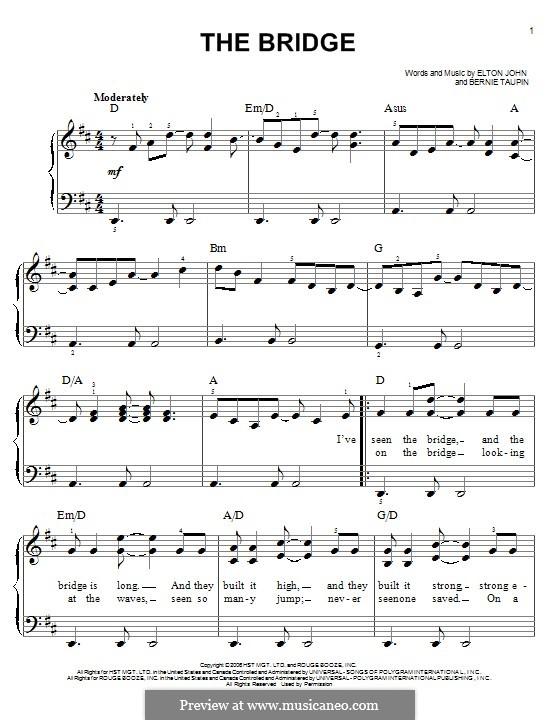 The Bridge: Für Klavier by Elton John