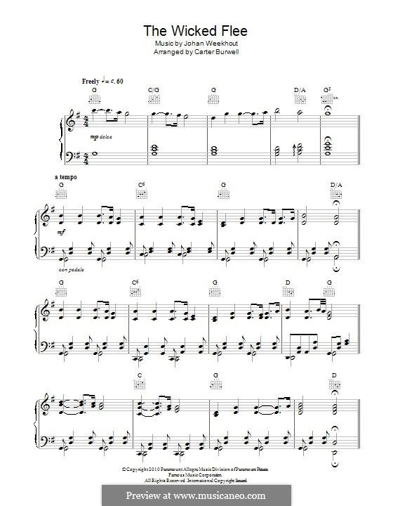 The Wicked Flee (Carter Burwell): Für Klavier by Johan Weekhout