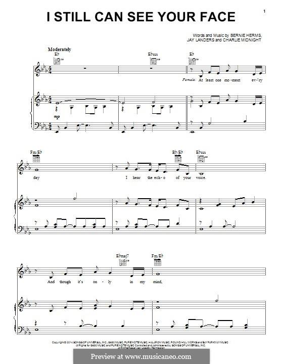 I Still Can See Your Face: Für Stimme und Klavier (oder Gitarre) by Bernie Herms, Charlie Midnight, Jay Landers
