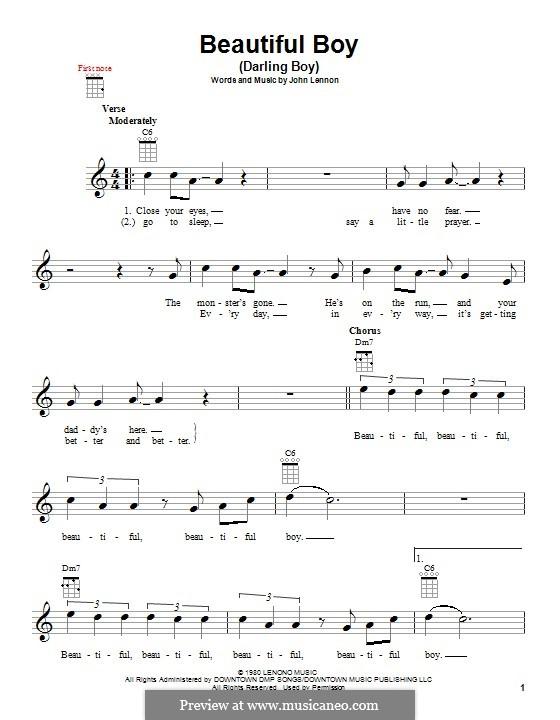 Beautiful Boy (Darling Boy): Für Ukulele by John Lennon